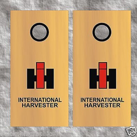 International Harvester Decals And Stickers : International harvester cornhole decal set by