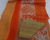 Indian Handmade Quilt Vintage Twin Kantha Bedspread Throw Cotton Blanket 1248 BY artisanofrajasthan