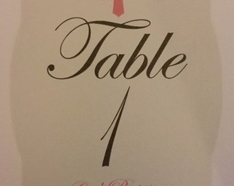 Table numbers, baptism table numbers, religious table numbers, set of 12