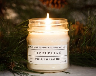 Timberline Candle - Pine Scented Natural Soy Candle