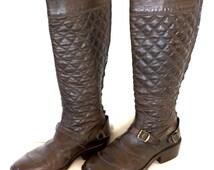 BELSTAFF - Boots - Leather - Dark Brown Women's Boots - US 6 - EU 36