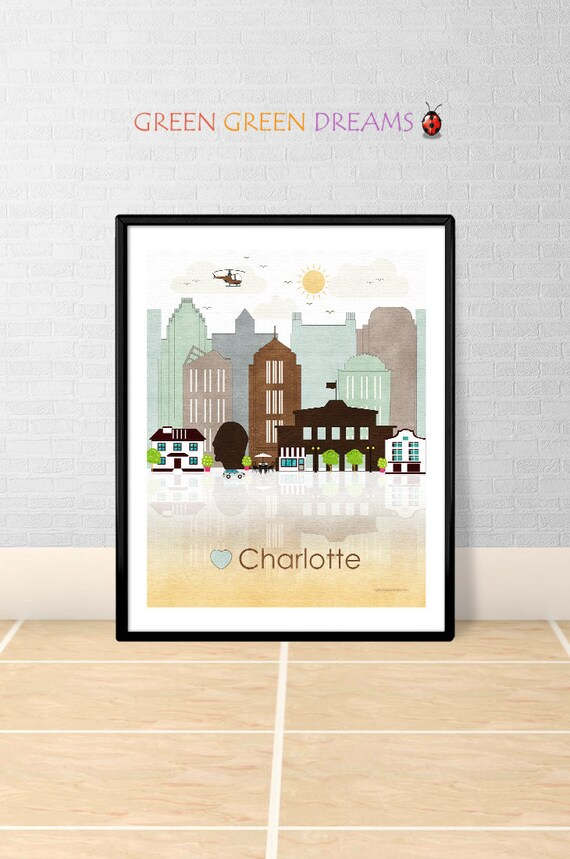 Charlotte Print Wall Art Poster Charlotte By Greengreendreams