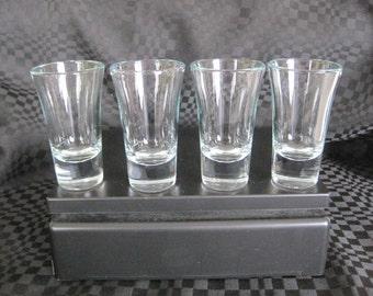 Vintage 4 glasses shooter