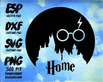 Harry Hogwarts castle home Clipart , SVG Cutting , ESP Vectors files , T shirt , iron on , sticker ,Personal Use