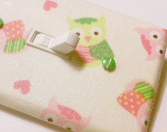 Owls Light Switch Cover / Woodland Girl Nursery