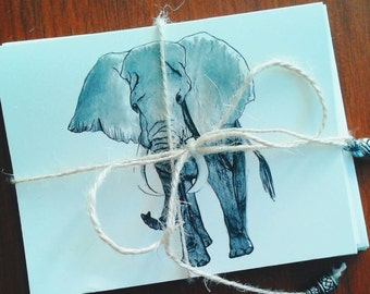 Note Cards-Elephant Note Cards