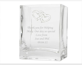 Personalised Engraved Medium Vase