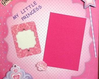 "Little Princess 12x12"" Premade Scrapbook Page"