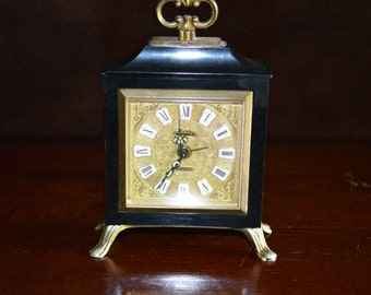 Swania 2 Jewels Miniature Alarm Clock Made in Germany