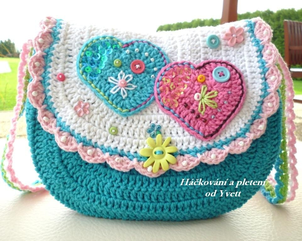 PATTERN handbag for little girls crochet pattern purse Etsy