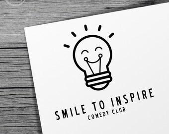 Custom Pre-Made Logo Design - Lightbulb Inspiration Logo - Business Logo