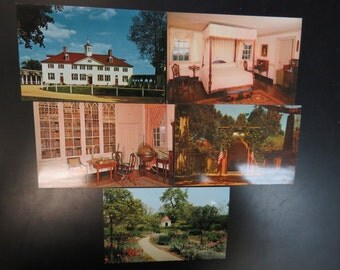 Vintage Postcards, Lot of New 5 Different MOUNT VERNON cards