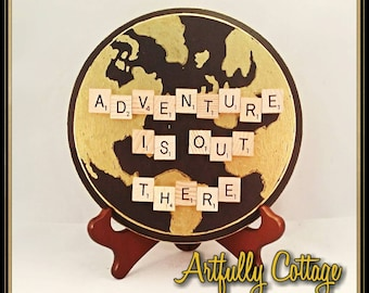 CLEARANCE! World Adventure Series Scrabble Tiled Plaques 8x8in.rounds
