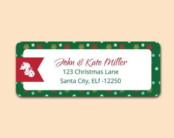 Christmas Return Address Lables - Holiday return address labels