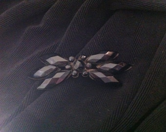 Vintage Black Jet Pin
