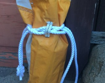 Recycled Sail Bag USA letters Beach Bag