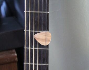 Wood guitar picks
