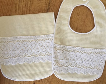 Baby Bib and BurpCloth Set
