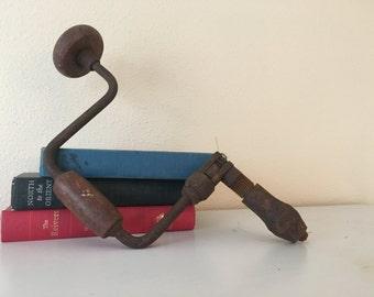 SALE- Vintage carpentry hand drill