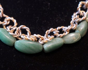 Jade and Mixed Metal Necklace 029
