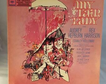 My Fair Lady Album- Original Soundtrack Recording 1964- Featuring Audrey Hepburn and Rex Harrison, Columbia Records