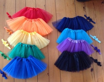 SALE: Tutus! Bright colored tutus for infant, baby, toddler girls, young girls. With or without matching headband. Baby shower gift idea.