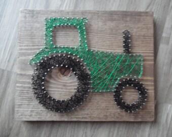 Tractor String Art, Nursery Wall Art, Tractor Art, Nursery Boys Art, Tractor Decor, Boy String Art, Nursery String Art