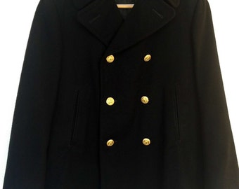 US Navy Peacoat Vintage size 40S Men's Coat