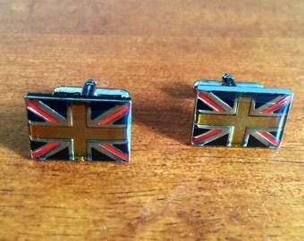 Union Jack UK flag cuff links enamel United Kingdom