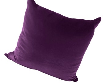Velvet  Purple Pillow Cover, Purple Velvet Couch Pillow, Purple Sofa Pillow, 16, 18 inches, 20 Inches