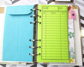 Cash Envelopes *Holepunched* - Dave Ramsey Budget Envelopes - Personal Size Vertical Layout