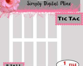 YOU Design!!! Tic Tac Label Templates!!