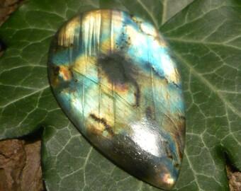 Labradorite Cabochon, 47.6ct Pendeloque Shape