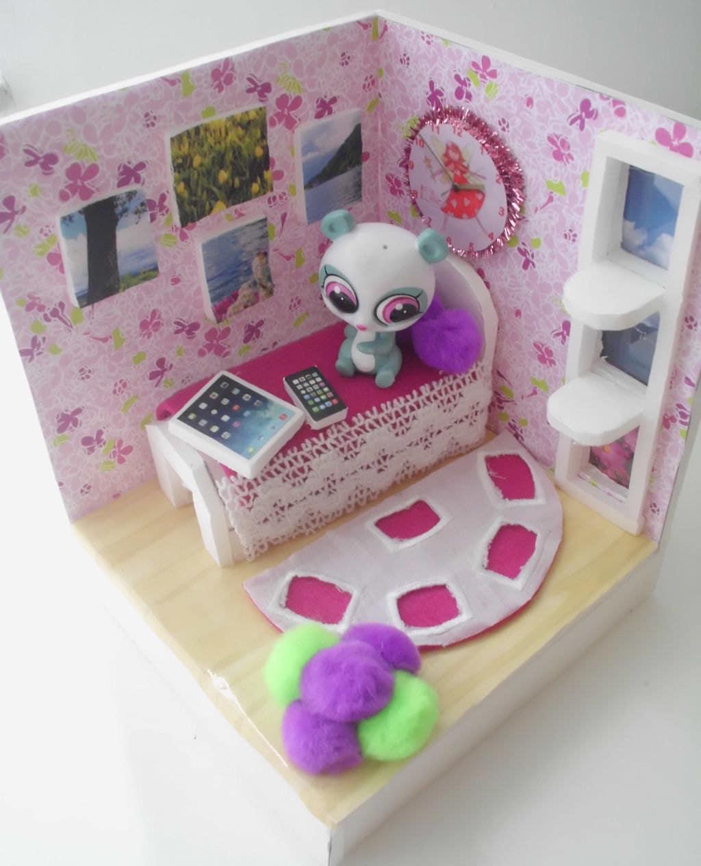 littlest pet shop lps play set bedroom handmade