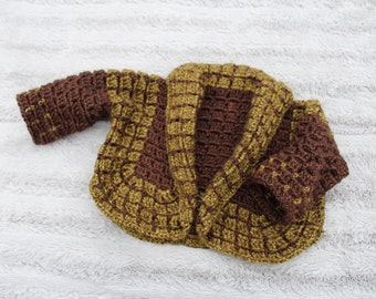 Forest/Hunter Baby Cardigan - Brown and Green