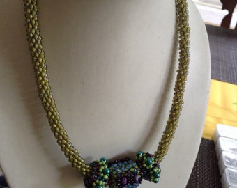 Sage and purple necklace