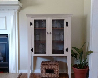 Primitive Cabinet - Shabby Chic Pie Safe, pantry cabinet, Rustic Pie Safe, Jelly Cabinet, Jelly Cupboard, Apothecary Cupboard, kitchen