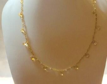 Drop necklace citrine