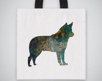 Shepherd dog silhouette Tote Bag - Art Tote - Market Bag - Shoulder Bag - Canvas Bag