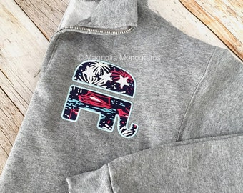 GOP Sweatshirt, Republican Elephant, Republican Sweatshirt, GOP Elephant, Lilly Sweater