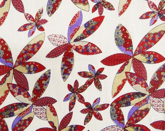 """Home Decor Accessories Fabric, White Fabric, Floral Print, Sewing Crafts Fabric, 40"""" Inch Cotton Fabric By The Yard ZBC1121"""