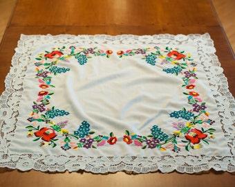 SALE!!! 50% off  - Embroidery Hungary Kalocsa homedekor handmade handicraft tablecloth Free Shipment