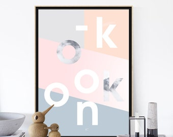 OKKOON2 - Printable Art - Printable Minimalist Typographic Poster  - Scandinavian Poster - Digital Wall Art Prints - Affiche Scandinave
