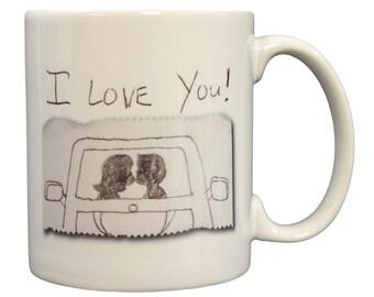 Heartwarming Gum Wrapper Commercial Inspired I Love You 11oz Coffee Mug