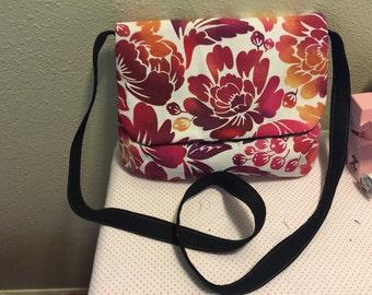 Floral Canvas Messenger Bag