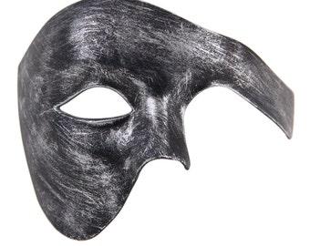 Luxury Mask Phantom Of The Opera Half Face Masquerade Mask Vintage Design Antique Black Silver