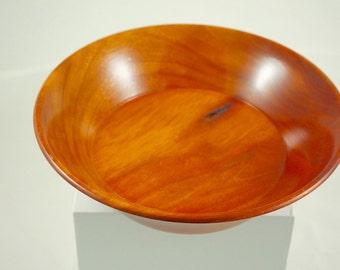 "Carob wood bowl 7 5/8"" diameter"