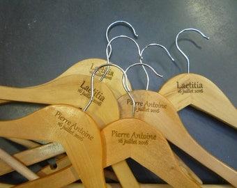 6 marriage custom engraving 1 one side hangers