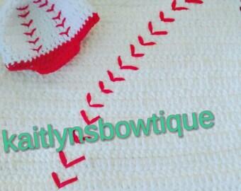 Crochet Baseball Set