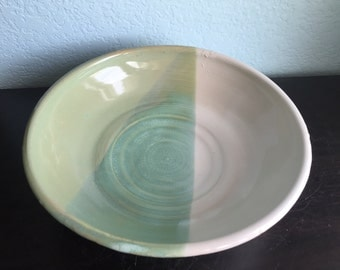 Big Green and White Bowl